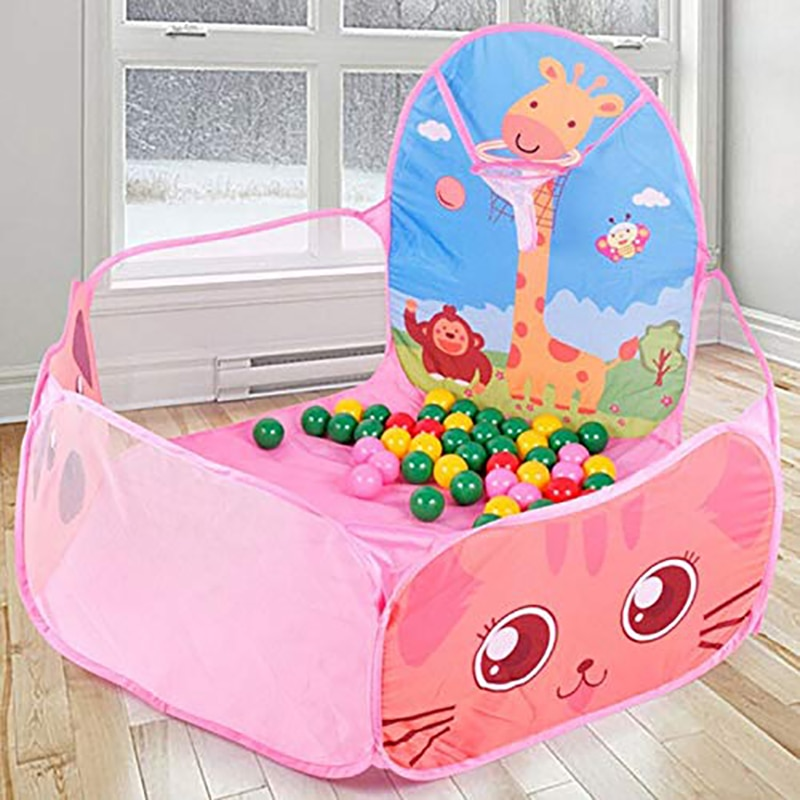 Baby Playpen Game Portable Children Outdoor Indoor Ball Pool Play Tent Kids Safe Foldable Playpens Games Pool Of Balls For Kids toys tent for kids tunnel ball pool pits ocean series cartoon game portable foldable outdoor sports toys with basket children