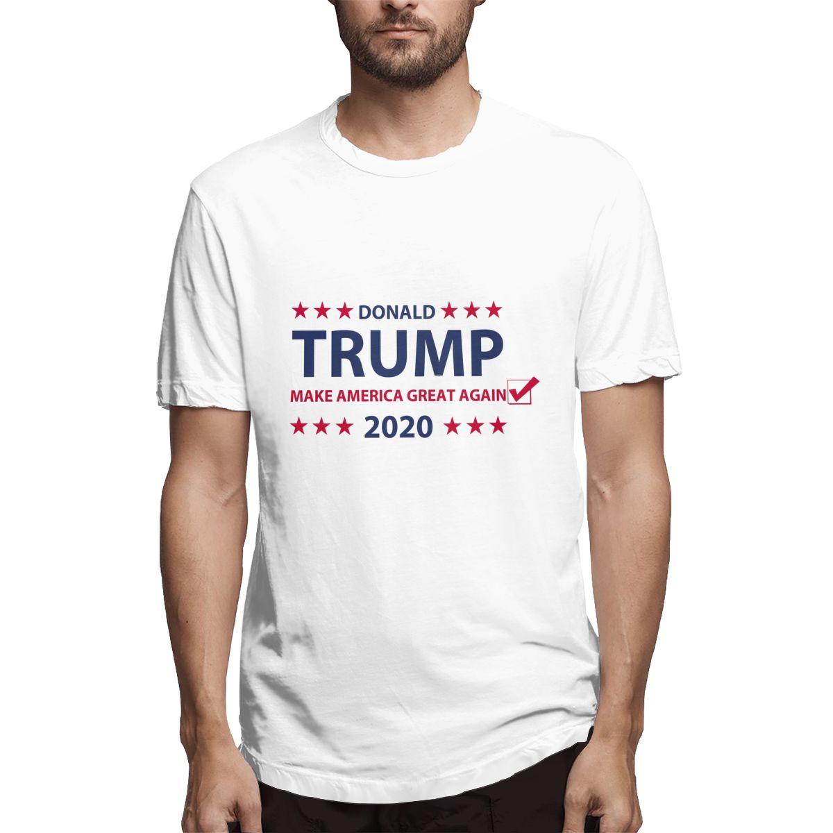 Camiseta de hombre estilo impreso manga corta Camiseta hombres Donald Trump 2020 taza de café moda comodidad hombre parte de arriba ropa informal Camisetas