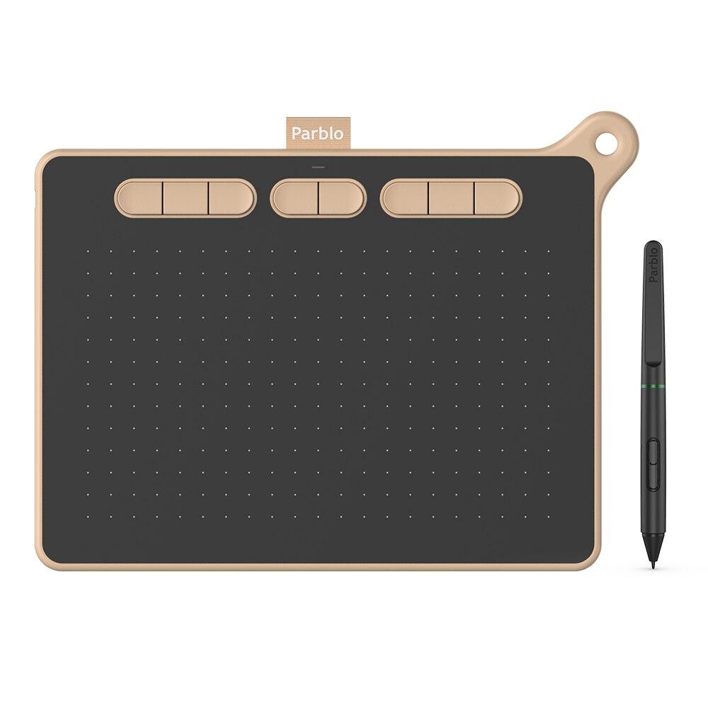 Parblo-جهاز لوحي للرسومات الاحترافية Ninos M ، تصميم مميز ، مع قلم ضغط 8192 ، 5080LPI ، متوافق مع هاتف Android