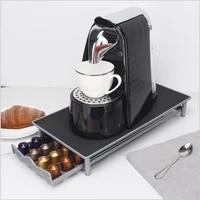 iron coffee capsule rack anti noise 40 grid reusable coffee capsule box drawer type dolce gusto coffee rack