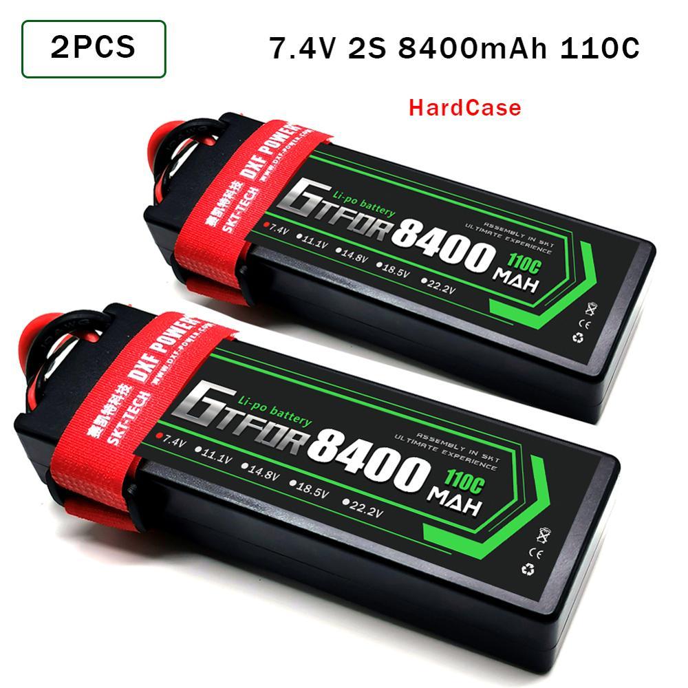 GTFDR 2PCS Battery lipo 2S 3S 7.4V 11.1 HV 11.4V 10000mah 8400 9300mah 20C 110C 220C 130C 260C 60C 120C for RC QRX350 Car truck enlarge
