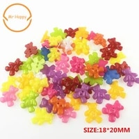 50pcs bear shape mixed colors resin buttons for sewing or scrapbooking garment accessories