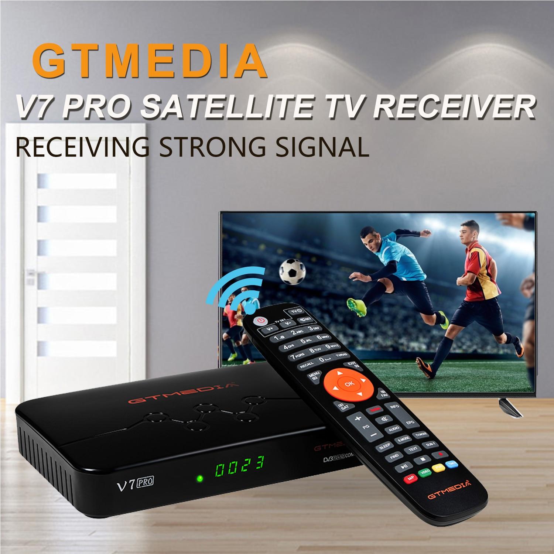 GTmedia V7 برو كومبو Dvb-T2/S2 استقبال الأقمار الصناعية (USB واي فاي) Suport H.265 PowerVu Biss مفتاح Ccam Newam يوتيوب 1080P كامل HD
