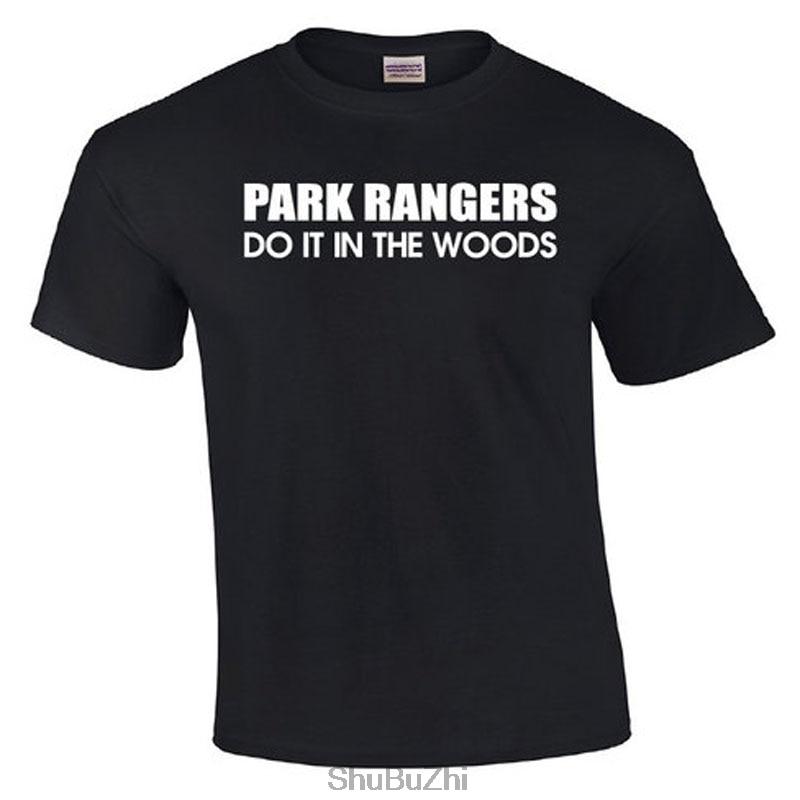 Recién llegado, Camiseta de algodón de verano para hombre, Park Rangers Do It In The Woods, camiseta de moda para hombre de hip-hop, talla grande