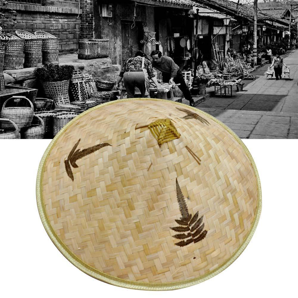 Venta al por mayor de fábrica de sombrero de trébol, sombrero tejido con hojas de bambú, sombrero para la lluvia, sombrero para la pesca, té, lluvia, sombrilla J6Y9