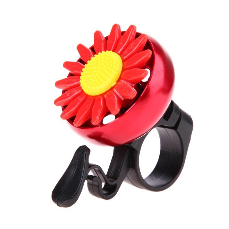Linda flor hermosa bicicleta manillar anillo cuerno sonido campana