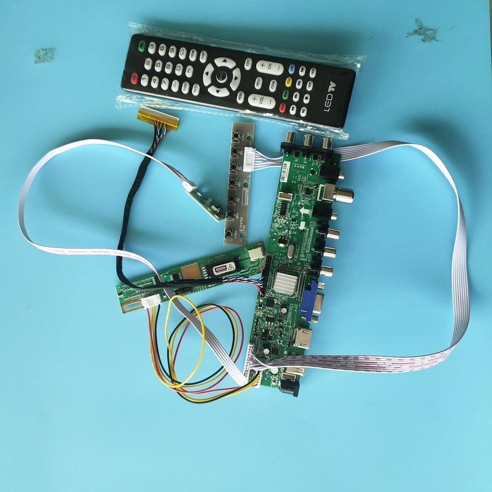 """Kit para B154EW02 V5/B154EW02 V7 30pin DVB-C DVB-T 1280X800 TV VGA USB AV 1 CCFL LCD Digital HDMI Panel, placa de controlador 15,4"""""""