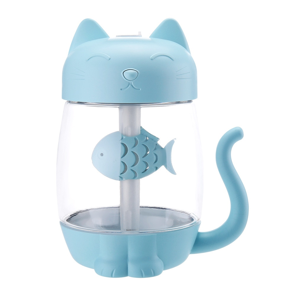 Cat humidifier desk desktop home car mini USB humidifier cat claw difuser aroma  350ML  Transparent water tank