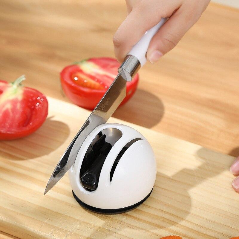 Afilador de cuchillos 2 etapas profesional cocina afilador de piedra ventosa cuchillos fijos afilador 3 pulgadas