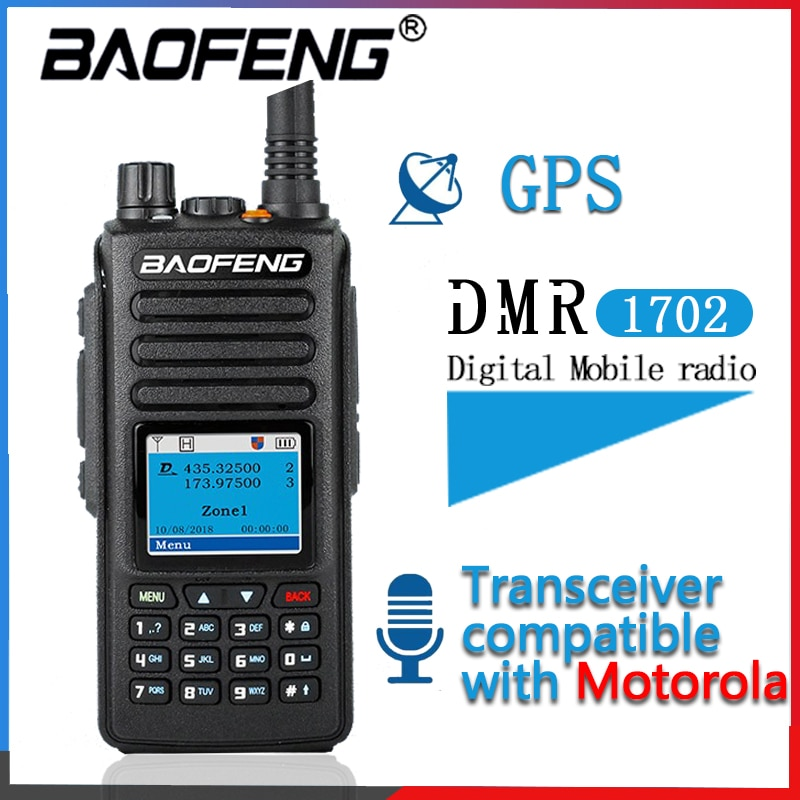 2020 Baofeng DMR Gps Walkie Talkie Dual Time Slot Dmr Digitale/Analoge Dmr Repeater Upgrade Van DM-1801 DM-1701 DM-1702 radio
