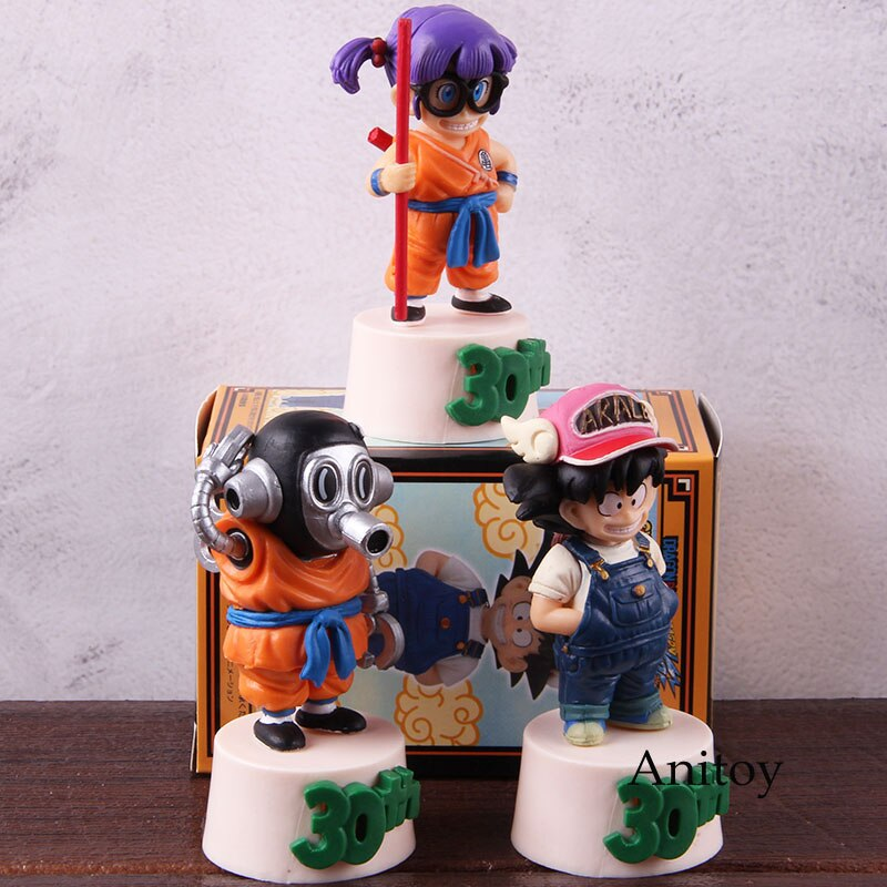 Dragon Ball Figure 30th F Prize Toriyama Akira Arale Son Goku Anime Action Figures PVC Collectible Model Toy 3pcs/set