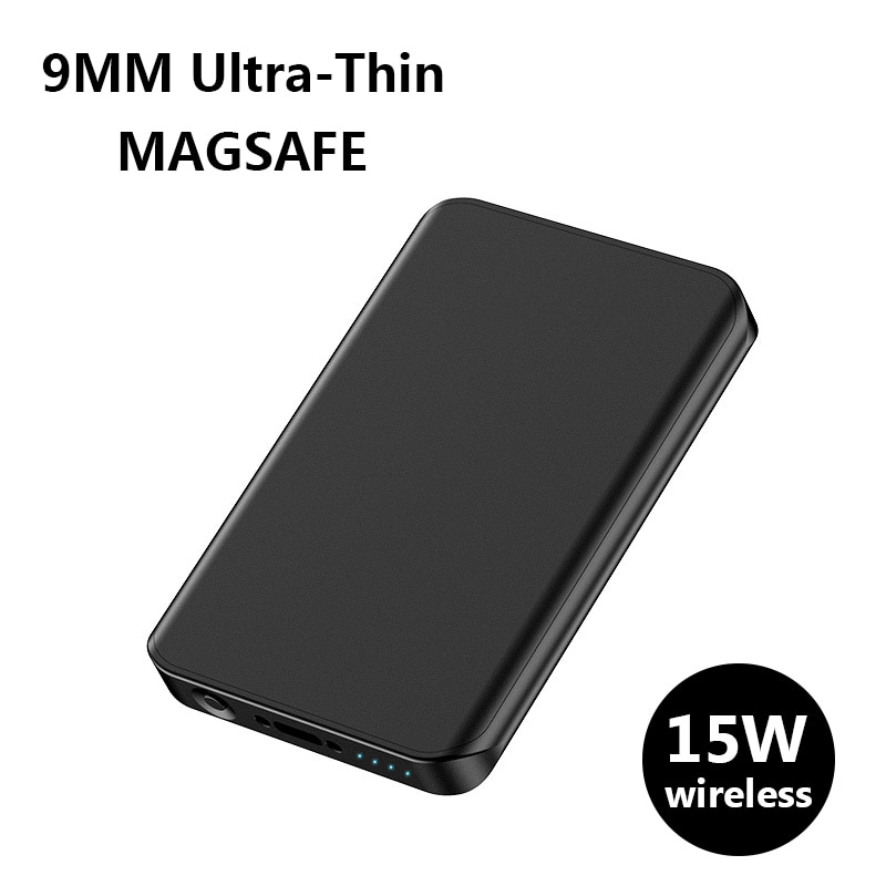 Ultra-thin Power Bank For xiaomi Samsung 15W Magnetic qi Wireless Charging For iphone 12 magsafe Charger mini powerbank battery