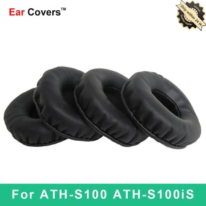 Ear Pads For Audio Technica ATH-S100 ATH-S100iS ATH S100 S100iS Headphone Earpads Replacement Headset Ear Pad PU Leather