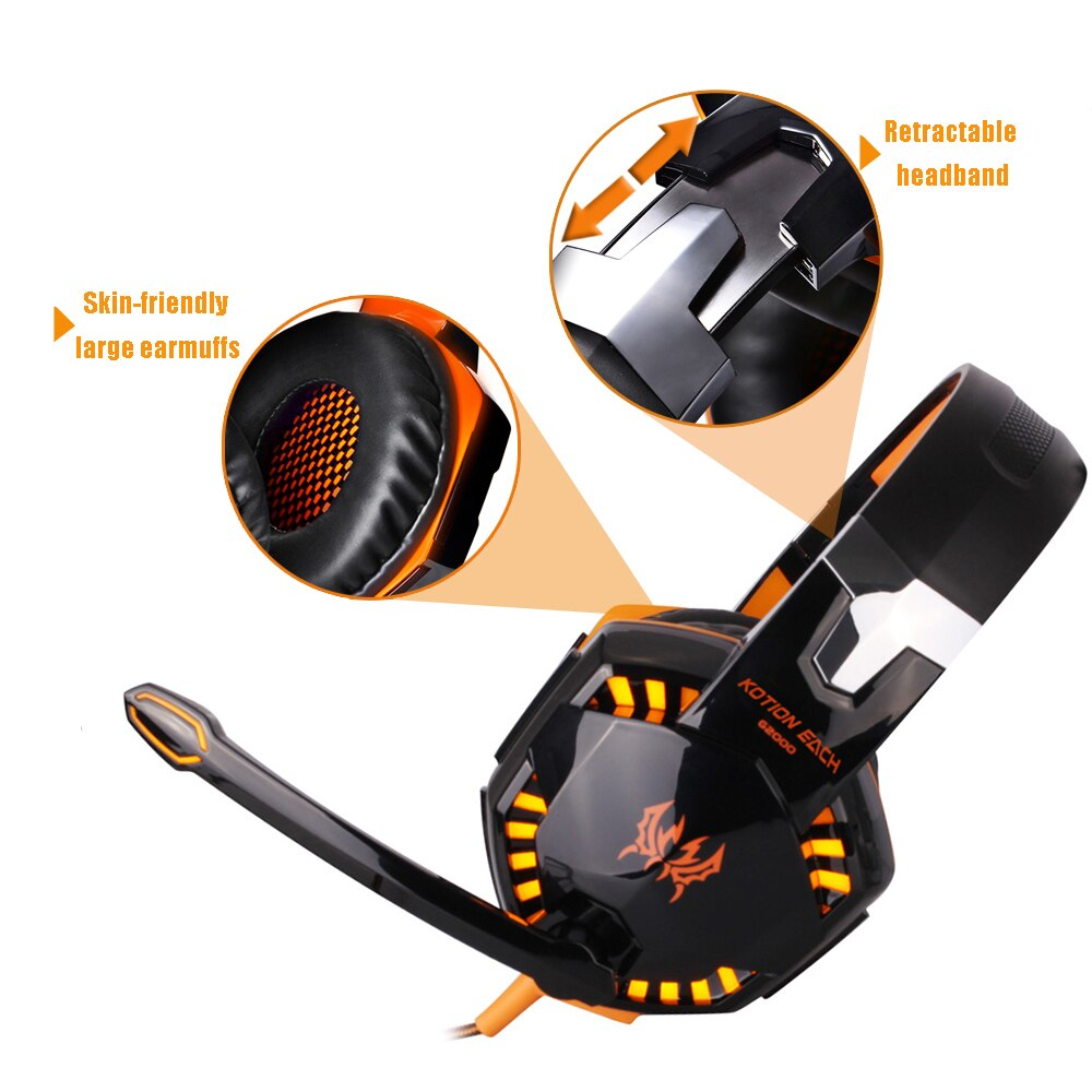 Wired Gaming Headset Headphones Surround sound Deep bass Stereo Casque Earphones with Microphone For Game XBox PS4 PC Laptop enlarge