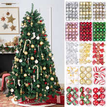 Christmas Tree Ball Cane Hanging Pendants Merry Christmas Decorations For Home 2021 Xmas Navidad Noel Gifts New Year 2022