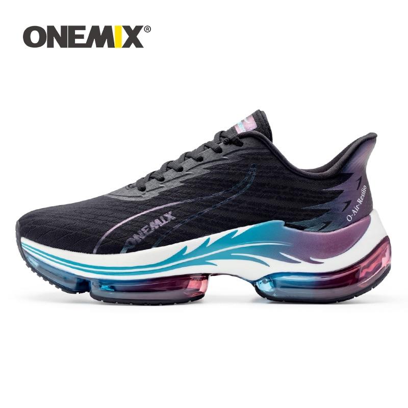 ONEMIX-أحذية الجري للرجال والنساء ، أحذية رياضية خارجية مع وسادة هوائية ، للأزواج ، للمشي ، أزياء 2021