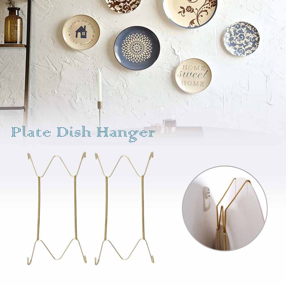 aliexpress.com - Wall Display Plates Hanger W Type Decoration Crafts Dish Spring Holder Invisible Hook Home Decor 6/7/8/10/12/14/16 Inch