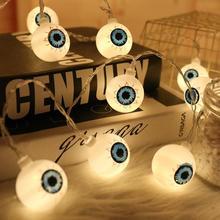 Halloween Light String Remote Control Battery String Lights Lamp DIY Hanging Horror Halloween Decora