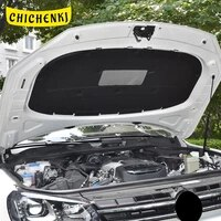 for volkswagen touareg 2011 2018 car heat sound insulation cotton front hood engine firewall mat pad noise deadener accessories