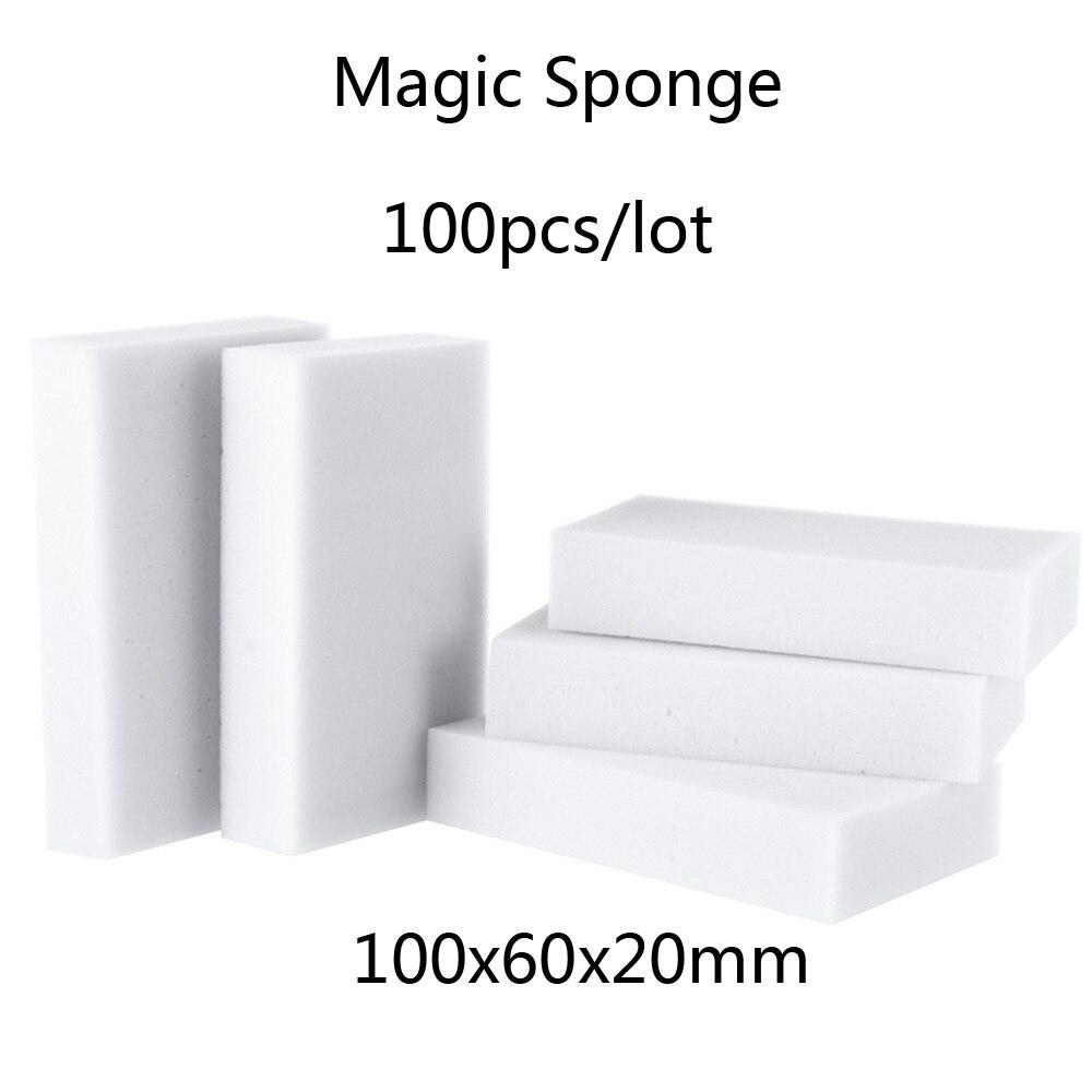 100 pcs/lot high quality melamine sponge Magic Sponge Eraser Dish Cleaner for Kitchen Office Bathroom Cleaning 10x6x2cm