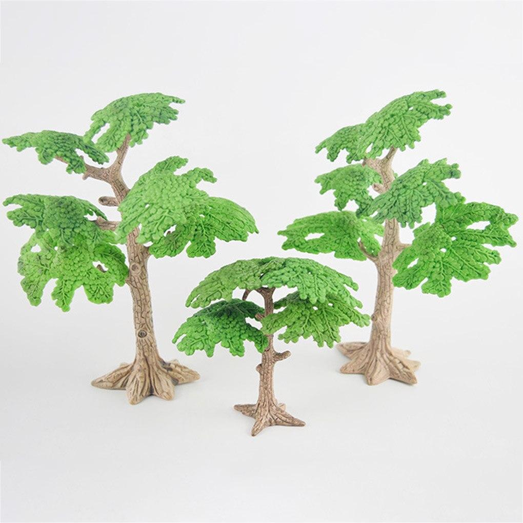Миниатюрные сказочные садовые сосны, 2 шт., миниатюрные растения, аксессуары для украшения кукольного домика, садовое украшение