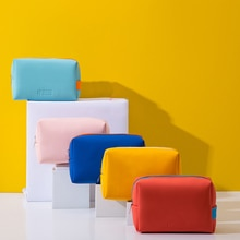 PU Cosmetic Bag Women Waterproof Candy Colors Makeup Bags Travel Wash Toothbrush Portable Pouch Fash