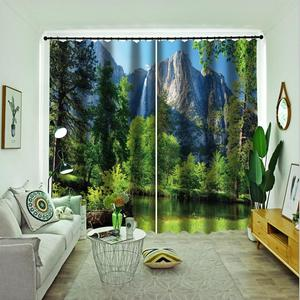 Custom 3d nature scenery Blackout Curtains Kitchen Curtain Drapes Decoration Living Room Bedroom Curtains Drapes
