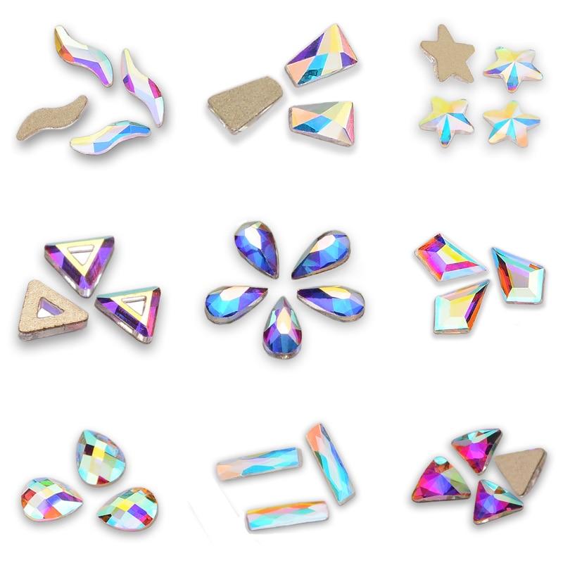 New Crystal AB Fancy Nail Art RhinestonesDIY Nails Art Decoration and Crafts