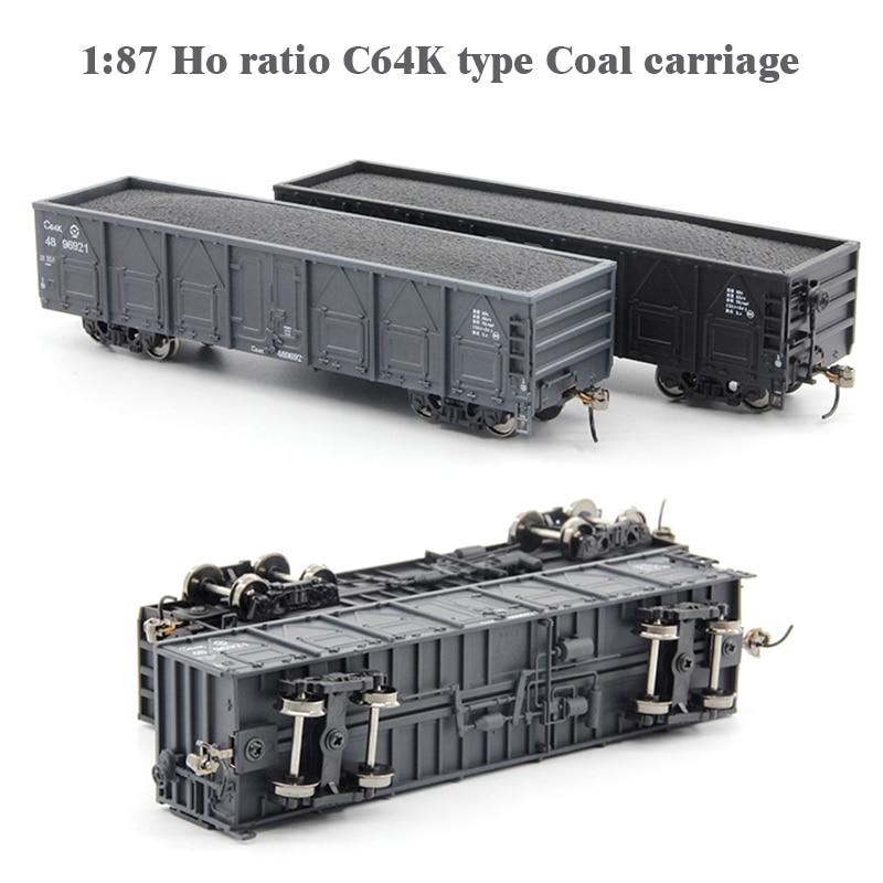 187 C64K ratio Ho, carro de carbón, tren, modelo de coche, número de cuerpo al azar