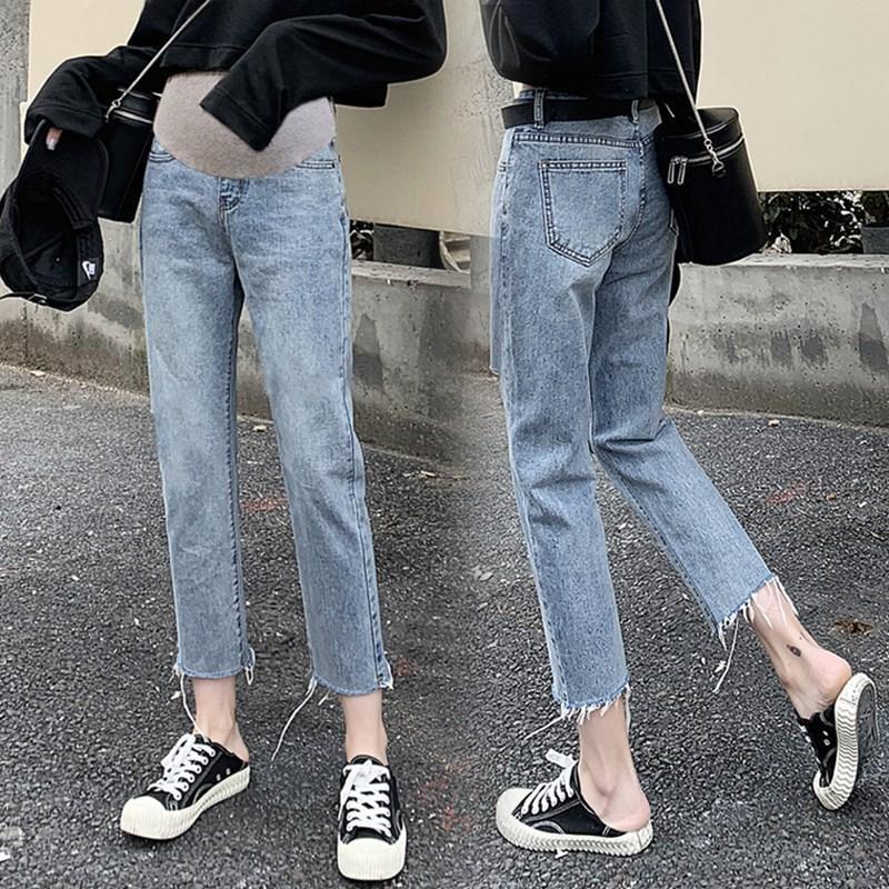 Летние тонкие хлопковые штаны для беременных женщин Одежда для беременных джинсы штаны для беременных джинсы с регулируемой талией джинсы ...
