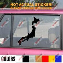 Kaart van Japan Japanse Decal Sticker Auto Vinyl pick size kleur JDM