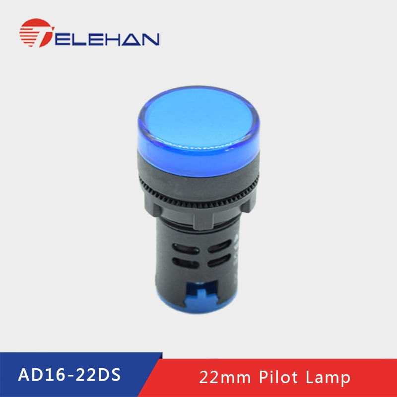 AD16-22DS, 12/24/48/110/220/380V AC/D, Dia 22mm pilot lamp, indicator lamp, signal lamp, signal indicator, panel indicator