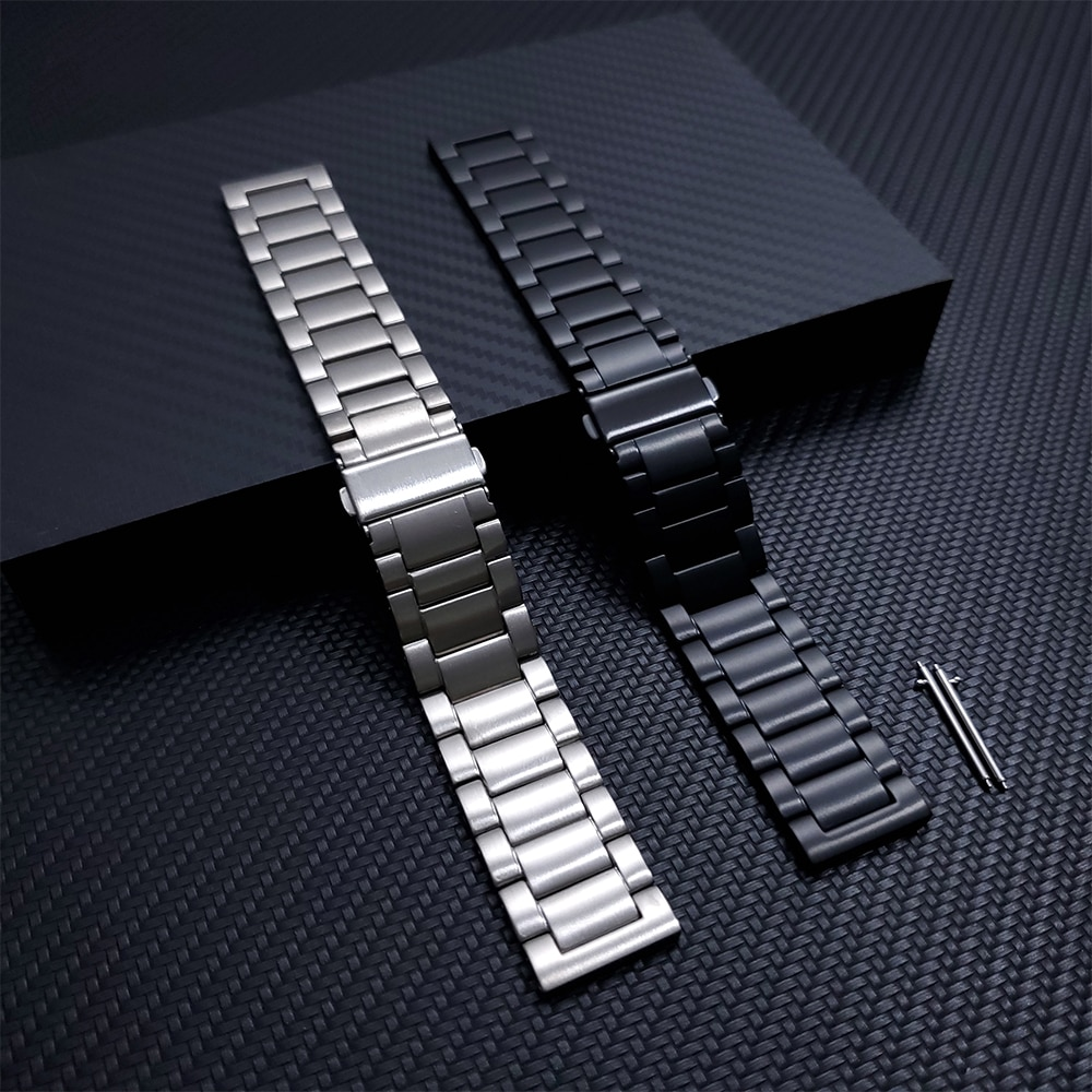 حزام ل شاومي Huami Amazfit GTR 2 2e/GTR 47 مللي متر/ستراتوس 3 GTR2 الفرقة Smartwatch التيتانيوم الساعات المعدنية سوار الأساور