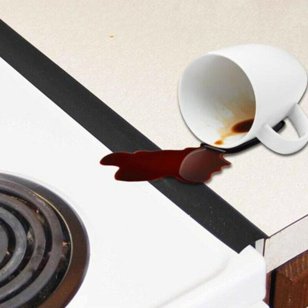 2 pces cozinha fogão a gás de silicone contra abertura capa fácil limpo calor-vazamento entre bancada, fogão, forno, lavadora e secador