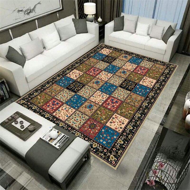 В богемном стиле ковер ковры из мягкой фланели 3D коврики с принтом автомобильные коврики противоскользящие большие ковры украшения дома Ст...