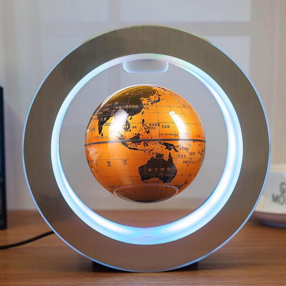 Round Sphere LED Light World Map Floating Earth Magnetic Levitation Light Anti-gravity Magic Ball Christmas New Strange Lights