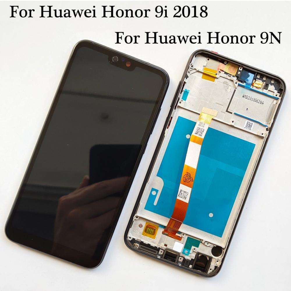 Preto/Azul/Verde Para Huawei Honor 9i 2018/Honor 9N LLD-AL30 LLD-AL20 Display LCD + Touch Screen digitador Assembléia Com Frame