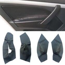 4 pçs microfibra couro porta braço painel capa para skoda octavia 2007 2008 2009 2010 2011 2012 2013 2014 acessórios