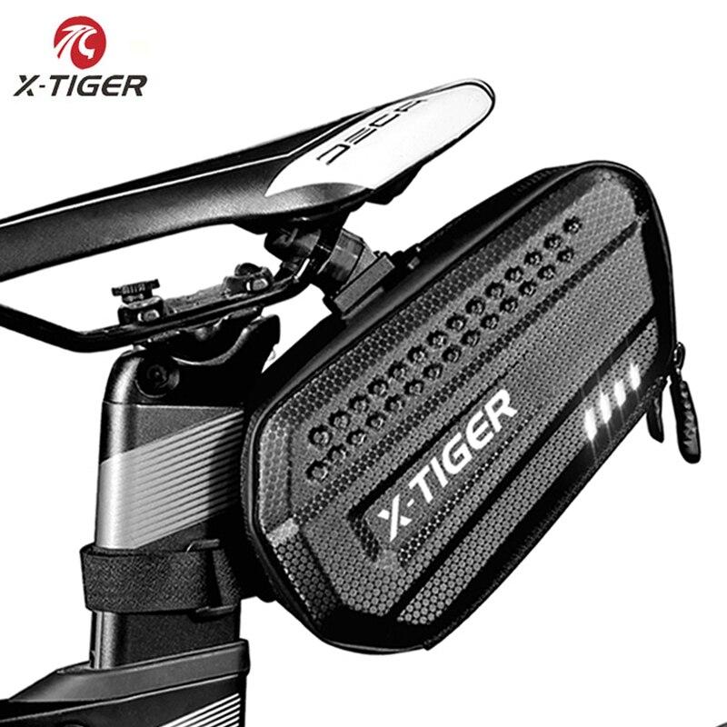 Bolsa de bicicleta x-tiger MTB impermeable trasera de gran capacidad tija de sillín a prueba de golpes impermeable reflexivo bolsa de bicicleta accesorios de bicicleta