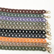 Sac à main en résine acrylique pour femmes   Chaînes, sac ceinture dépaule, accessoires acryliques détachables dames, sangles dépaule, sacs à main