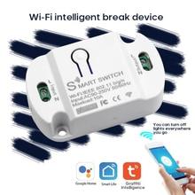 Tuya 10A WiFi Smart Switch Wireless Remote Switch Timer APP Control Smart Home for Amazon Alexa Goog
