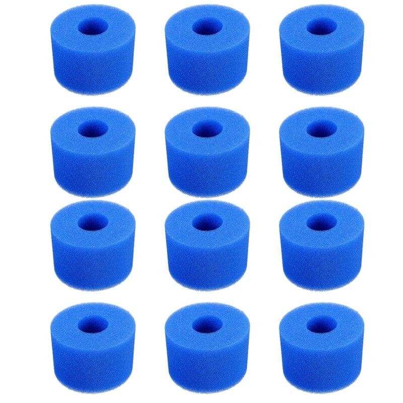 12PCS Acessórios Esponja De Espuma para Intex Piscina S1 Reutilizáveis Lavável Biofoam Limpador de Piscina De Espuma Acessórios De Natação
