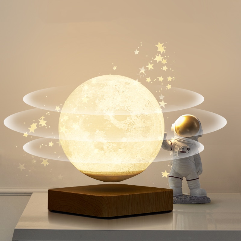 3D LED Night Light Moon Lamp Magnetic Levitation Floating star Galaxy lamp Lunar Night Light 3 Colors for Kids Birthday Gifts enlarge