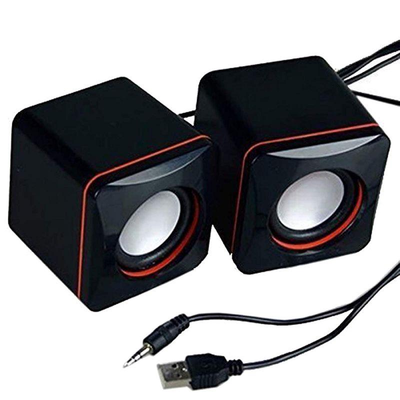 Tragbare Mini Stereo Lautsprecher USB 3,5mm Audio Jack Laptop Desktop-Computer Lautsprecher