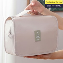 New Thicken Hang Makeup Bag Travel Organizer For Cosmetics Foldable Waterproof Make Up Storage Toile