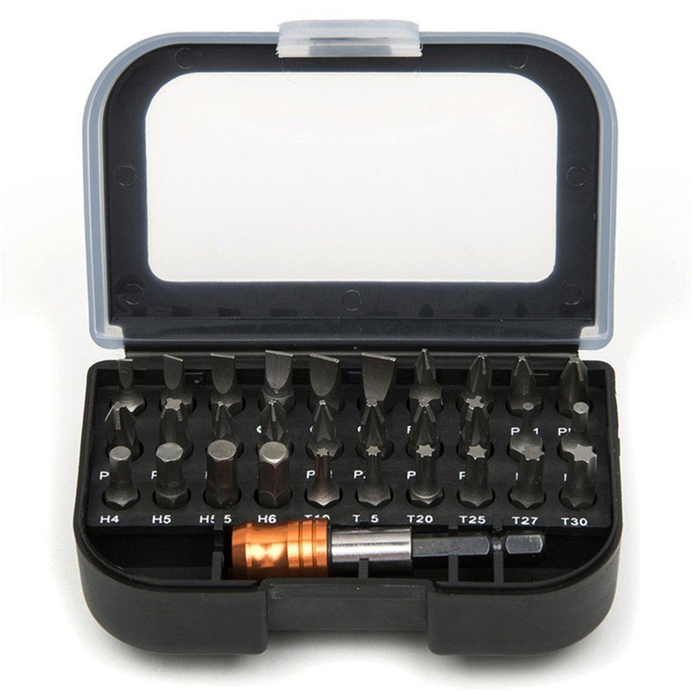 31 шт. отвертка набор Slotte/Pozi/с шестигранной головкой с 60 мм Quick Release шестигранный патрон удлинитель адаптер
