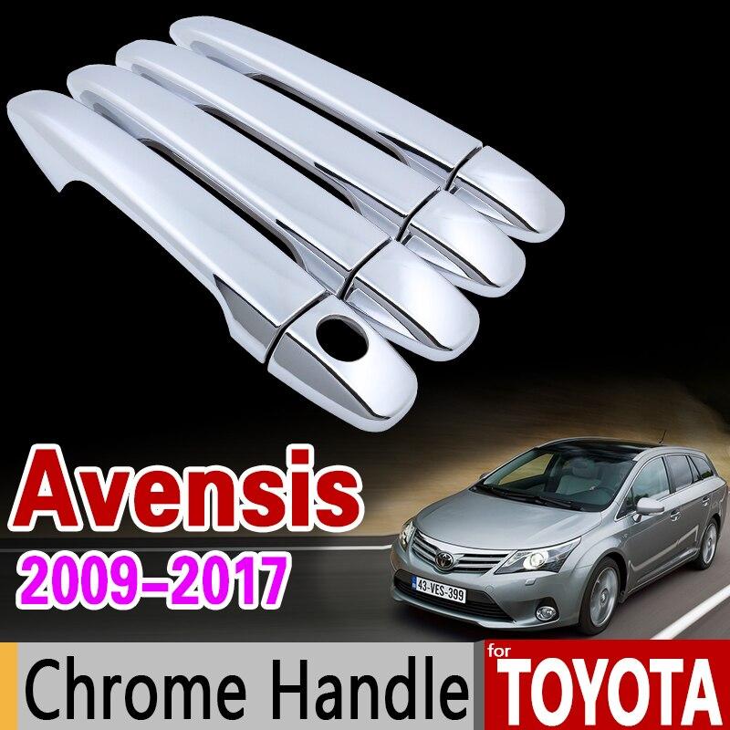 Para Toyota Avensis 2009-2017 moldura de cubierta de manija cromada T270 2010, 2011, 2012, 2013, 2014, 2015, 2016 de estilo de coche