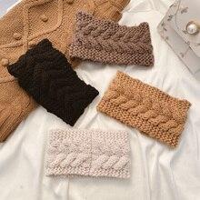 Knitting Yarn Hair Bands South Korea Broadside Fashion Braided Women Headdress Tied Hair Go out in A
