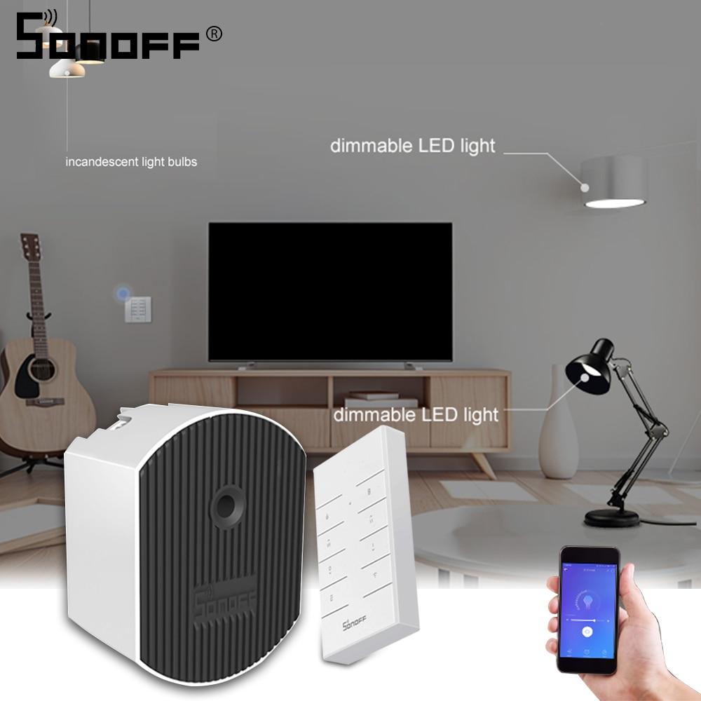 Sonoff d1 led dimmer interruptor de luz inteligente wifi/433mhz rf controle remoto brilho ewelink apoio alexa amazon google casa