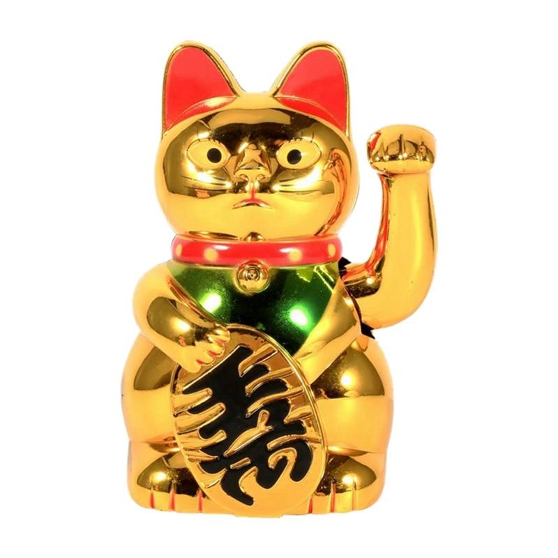 Chat porte-bonheur chinois en or   Water la main, la richesse, la prospérité, laccueil, la chance, salutation de chat, cadeau danniversaire 2020